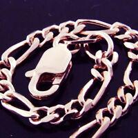 BRACELET BANGLE GENUINE REAL 14 K ROSE VERMEIL GOLD SOLID ANTIQUE LINK DESIGN