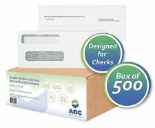 500 SELF SEAL Double Window Security Envelopes Designed for Checks