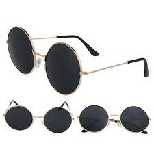 80e989116a7 Vintage John Lennon Style Round Retro Gold Metal Frame Classic Sunglasses