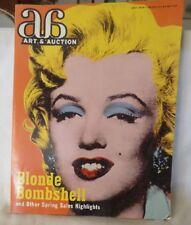 May 1998 Art & Auction Magazine Vol XX No 9 Warhol Orange Marilyn Monroe Marlene
