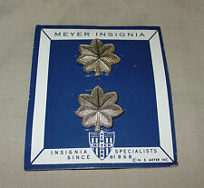 VINTAGE MYER NEW YORK LIEUTENANT COLONEL LT. COL. RANK INSIGNIA PINS
