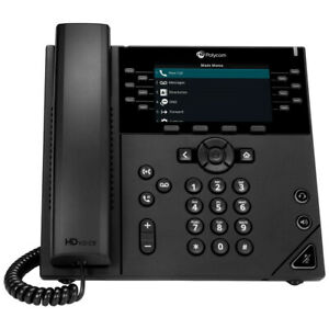 "POLY 450 IP phone Black 12 lines LCD - 2200-48840-025 - 4.3"" (480 x 272, LCD), 1"