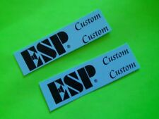 ESP Guitar Neck 2 Custom Black Headstock Waterslide Decal Highest Quality