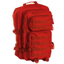 Mil-tec US Assault - mochila (36 L) color rojo
