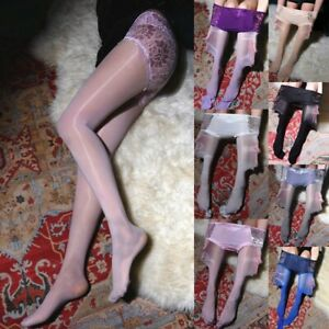 Womens Oily Lace Stockings Pantyhose One-piece Pantyhose Comfort Accessories