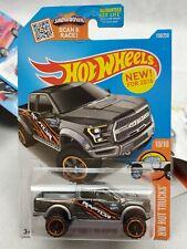 HOT WHEELS 2017 Ford F-150 Raptor Gray orange 10/10 HW Hot Trucks 2016 150/250