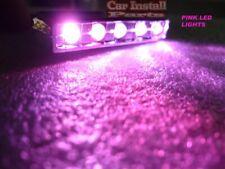 5-LED PINK Motorcycle & Car Lights Neon FX BLACK CASE