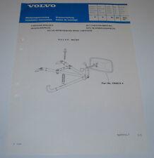 Einbauanleitung Volvo 340 360 Satz Wohnwagenspiegel Caravan Spiegels 05/1982!