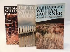 Vintage William Faulkner set of 3 PB Books The Hamlet, The Town, The Mansion