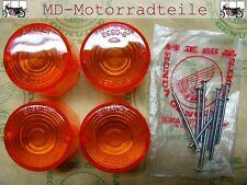 Honda CB 750 Four K0 - K6 Blinkerglas Set Stanley  incl. Schrauben ( D, NL )