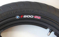 8 x BMW F800 GS Wheel Rim Stickers Decals - Choice of Colour - f800gs f 800 gs