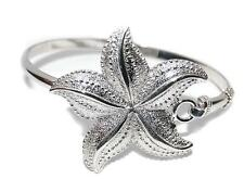 NEW STERLING SILVER .925 LARGE STARFISH BANGLE BRACELET