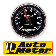 "AUTO METER COBALT 2-1/6"" ELECTRIC PYROMETER EXHAUST EGT GAUGE 0-900°C AU6144-M"
