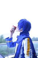 Cosplay Show Hair Vocaloid Kaito Dark Blue Short  Layered Stylish Anime Wig+Cap