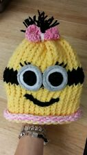 Handmade childrens Wool cap  despicable me disney