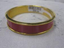 St John Knit NWT Gold Pink LOGO Bangle Bracelet