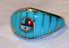 Sterling Silver Turquoise Southwestern Ring Sz 8-1/2