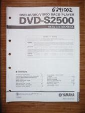 Service Manual yamaha dvd-s2500 lecteur de DVD, original