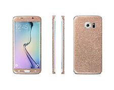 2 x Glitzerfolie Samsung Galaxy S7 Edge Bling Skins Sticker FullBody Schutzfolie