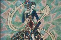 RARE SIGNED H CANSDALE ACRYLIC ABSTRACT CONTEMPORARY OUTSIDER ART PAINTING