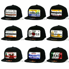 MEXICAN Hat MEXICO States License Plate Snapback Flat Bill Cotton Baseball Cap