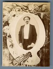 Portrait d'homme Vintage citrate print Tirage citrate  7,5x10,5  Circ