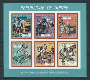Guinea,1987,Olympic,collective,Imperf,MNH