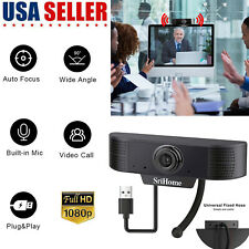 Webcam USB Web Camera Logitech 1080P Cam W/ Microphone For PC Laptop Desktop USA