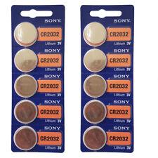 Sony CR2032, DL2032 KRC2032 2032 orologio Pulsante Celle 3 V EXP 2024 x 10