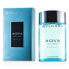 NEW Bvlgari Aqva Pour Homme Marine After Shave Splash 3.4oz Mens Men's Perfume