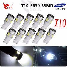 10x Car Auto LED T10 194 W5W NO Canbus 6 SMD 5630 Cree LED Light Bulb Led light