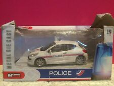 MONDO MOTORS SUPERBE PEUGEOT 207 POLICE EN BOITE 1/43 L3