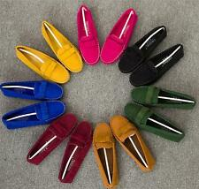 Women's Bowl Driving Rubber Sole OL Casual Suede Moccasin Loafer Flats Shoes D93