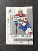 2019-20 SP GAME USED CHL MATTHEW ROBERTSON PRE-ROOKIE NEW STYLE NS-MR #ed 91/99