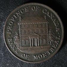 PC-1B3 Halfpenny 1844 token Province of du Canada Montreal Quebec Breton 527