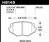 Disc Brake Pad Set-HPS Disc Brake Pad Hawk Perf fits 99-05 Mazda Miata