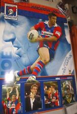Andrew Johns signed 2001 Newcastle Knights Player Poster +COA/Proof (2087)