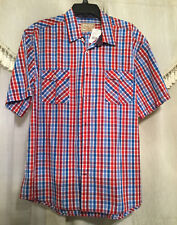 NEW Italia Vintage Button Front Short Sleeve Casual Dress Pocket Shirt Sz XXL