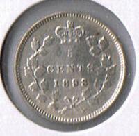 1893 Canada Silver Five Cents