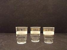 3 Anciens Verres Digestif Apéritif Années 60'  7 cm // Glass // Vetro // Vidrio