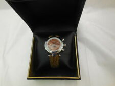 Akribos XXIV Women's AKR441BR Diamond Accented Automatic Brown Leather Strap Wat