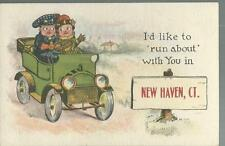 POSTCARD- I'D LIKE TO RUN ABOUT WITH YOU IN NEW HAVEN CT-UNUSED