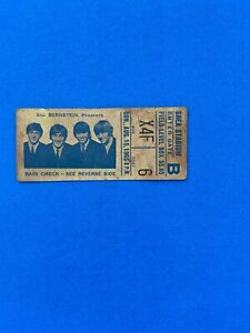 BEATLES Original 1965 CONCERT TICKET STUB -Shea Stadium, NYC