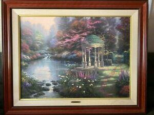 "Thomas Kinkade ""The Garden of Prayer""  Limited Edition. 25.5 x 34"