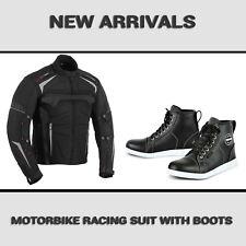Motorcycle Textile Cordura Jacket Waterproof Motorbike Leather Shoes Biker Boots
