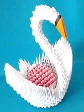 Extra Large Hand-made 3D Origami Swan with an Egg, - A Great Gift!