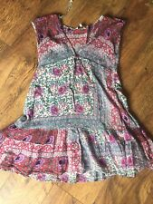 128❤️ New Look Boho Hippy Festival Summer Dress Beach Cover Tunic Top Size 12