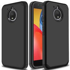 Shockproof Hybrid Rubber Hard Armor Phone Case Cover For Motorola Moto E4 Plus