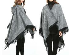 AU STOCK BLANKET WARM PONCHO HOOD CLOAK CAPE JUMPER OVERSIZE COAT SHAWL t067