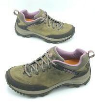 Merrell Womens Leather Brindle Performance Shoes Brown Lace Up Size 7.5 M